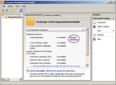 Exchange Management Console, Microsoft Exchange 2010, Manage Databases, New Exchange Certificate,  generating the CSR for a wildcar, generating a csr with the exchange certificate wizard, securing microsoft  exchange 2010, thawte ssl certificates, thawte, securing microsoft exchange 2010 with thawte ssl certificates, securing microsoft  exchange with thawte ssl certificates, strong ssl, Installing Your Thawte SSL Certificate, Exchange 2010, Thawte SSL Certificates for Exchange 2010, Thawte SSL Certificates for Exchange,  Exchange Configuration menu